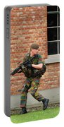 Belgian Infantrists Under Attack Portable Battery Charger by Luc De Jaeger