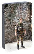 Belgian Soldier On Guard Portable Battery Charger