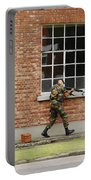 Belgian Soldiers On Patrol Portable Battery Charger by Luc De Jaeger