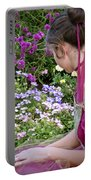 Belle In The Garden Portable Battery Charger by Angelina Vick