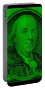 Ben Franklin In Green Portable Battery Charger