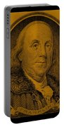 Ben Franklin In Orange Portable Battery Charger