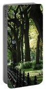 Benches Trees And Lamps Portable Battery Charger