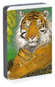 Bengal Tiger With Green Eyes Portable Battery Charger