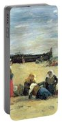 Berck - Fisherwomen On The Beach Portable Battery Charger