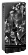 Berlin Alexanderplatz Portable Battery Charger by Juergen Weiss