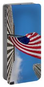 Betsy Ross Flag In Chicago Portable Battery Charger