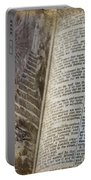 Bible Pages Portable Battery Charger