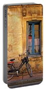 Bicycle And Window In France Portable Battery Charger