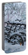 Bicycles In The Snow Portable Battery Charger