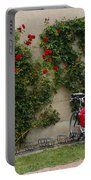 Bicycles Parked By The Wall Portable Battery Charger