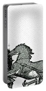 Big Ben And Boudica Charcoal Sketch Effect Image Portable Battery Charger