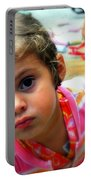 Big Brown Eyes Portable Battery Charger