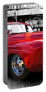 Big Red Abstract Portable Battery Charger