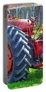 Big Red Rubber Tire Tractor Portable Battery Charger