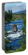 Big Rock In Spokane River Portable Battery Charger
