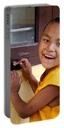 Big Smile At The Window Portable Battery Charger