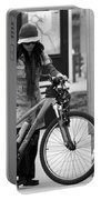Biker Chick Portable Battery Charger