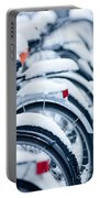 Bikes In Snow Portable Battery Charger