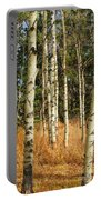 Birch Tree Abstract Portable Battery Charger