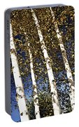 Birch Trees In Fall Portable Battery Charger