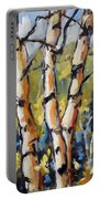 Birches Aglow By Prankearts Portable Battery Charger