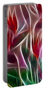 Bird Of Paradise Fractal Panel 2 Portable Battery Charger