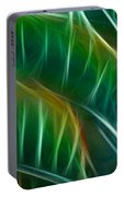 Bird Of Paradise Fractal Panel 3 Portable Battery Charger