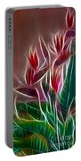 Bird Of Paradise Fractal Portable Battery Charger