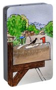 Bird On The Mailbox Sketchbook Project Down My Street Portable Battery Charger
