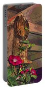 Birdhouse Morning Glories Two Portable Battery Charger