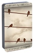 Birds On Wires Portable Battery Charger