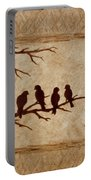 Birds Vintage Photo Beer Painting Portable Battery Charger