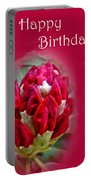 Birthday Card - Red Azalea Buds Portable Battery Charger