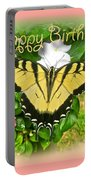 Birthday Greeting Card - Tiger Swallowtail Butterfly Portable Battery Charger