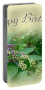 Birthday Greeting Card - American Beautyberry Shrub Portable Battery Charger