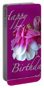 Birthday Greeting Card - Columbine Flower Portable Battery Charger