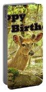 Birthday Greeting Card - Whitetail Deer Buck In Velvet Portable Battery Charger