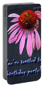Birthday Party Invitation - Coneflower Portable Battery Charger