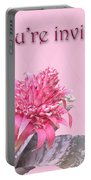Birthday Party Invitation - Pink Flowering Bromeliad Portable Battery Charger
