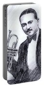 Bix Beiderbecke 1929 Portable Battery Charger by Mel Thompson