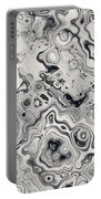 Black And White Abstract II Portable Battery Charger
