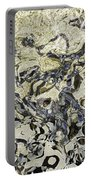 Black And White Abstract IIi Portable Battery Charger