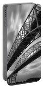 Black And White Blue Water Bridge Portable Battery Charger