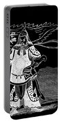Black And White Chinese Warrior Portable Battery Charger