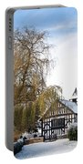Black And White Church  Melverley Portable Battery Charger