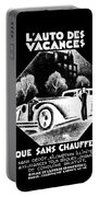 Black And White French Car Portable Battery Charger