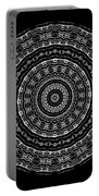 Black And White Mandala No. 3 Portable Battery Charger