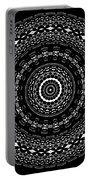 Black And White Mandala No. 4 Portable Battery Charger