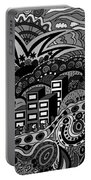 Black And White Seaside Portable Battery Charger